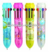 mini multicolor pen for kids ,10 color ink pen,cartoon pen