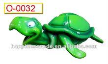 cartoon turtle statue, theme park decoration, amusement resource attraction