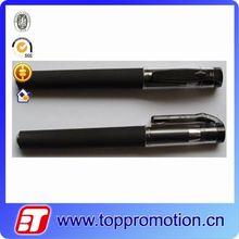 Black metal promotional gel ink pen
