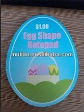 Egg shape notepad