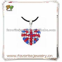 Fashion Flag Shamballa Jewelry Pendent