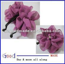2012 new fashion hair claw clip hair claw flower rhinestone