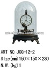 brass funny art clock,moved ball table clock in Amecican style for decoration and collection