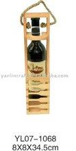 Single bottle wooden wine box