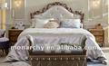 Bq502d-16/17/18 excelente estilo francés antiguo tallado a mano conjunto de cama
