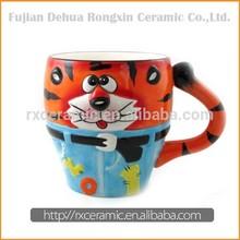 2015 Cute Hand-Painted Carton Animal Ceramic Mug