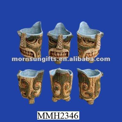 Distinctive ceramic tiki shape custom Musical Mug
