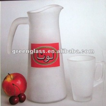 frost water pitcher and cup