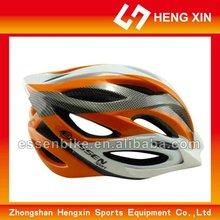 Hx06k branco - laranja capacete de fibra de carbono