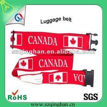 flag custom raw material luggage belt/strap 2012