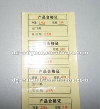 Warehouse signs label/ sticker