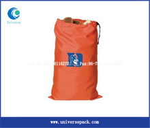 Orange trendy shopping nylon bag for wholesale