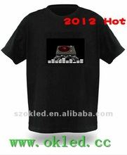 Over 2000 Designs EL T Shirt Sound Actived kids led sound activated t-shirts