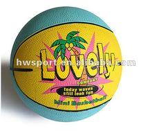 2013 new mini rubber basketball,kid play ball