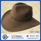 100% wool felt camel men's folding cowboy hat