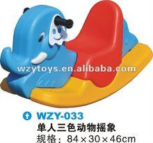 Plastic animal elephant play rocking