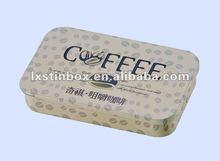 rectanguar shape high quality and fashionable slid coffee tin can