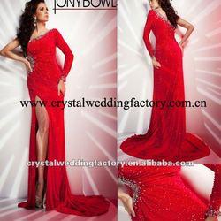 Sleeve Dress on Dress Cwfap4402   Buy Red Prom Dress One Sleeve Night Dress Prom