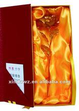 24k gold plated rose for valentine lover gift