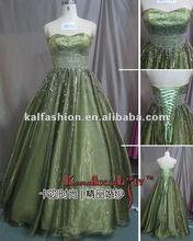 EB1311 Fairy corset organza beading Wedding dress petite Prom dress 2012