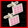 2012 brass wedding cufflinks with PNP plating CL0027-H002