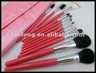 Beautiful cosmetic brush set