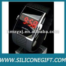 silicone digital watch, Led mirror