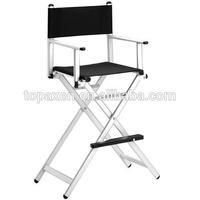 Professional salon hair dressing portable aluminum/aluminium frame makeup chairs make up chair aluminum makeup chair