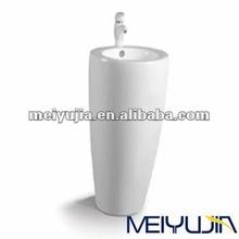 New design pedestal lavatory bathroom ceramics sanitary ware sink one piece basin