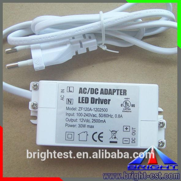 2014 HOT! Mini LED Power Supply, 12V LED Adapter, IP67 LED Driver