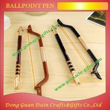 2014 hot sale unique bow shape newest custom design ballpoint pen