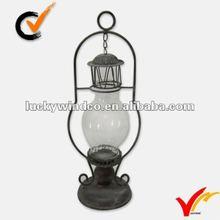 Shabby decorative metal hurricane lantern