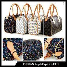 2014 Wholesale nice quality hot branded women handbag/pu handbag/purse