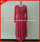 2014 new design beading muslim long dress wholesale dubai abaya