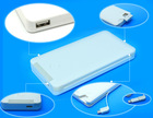 Newest polymer power bank with build-in line 6000mah real capacity power banks