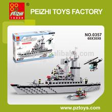 PEIZHI 1000+ Pcs Destroyer Series DIY Educational Plastic Toys Building Blocks