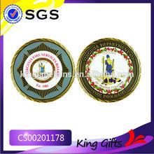Fire programs souvenir metal gold challenge coin with custom logos