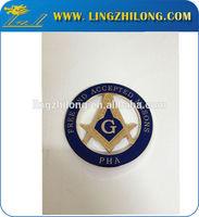 Masonic car emblems wholesale,round car logo emblem,masonic car badge