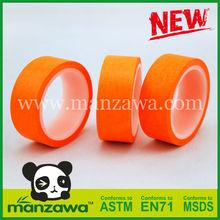 Orange washi masking tape with printing design