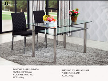 DT-820 2014 Alibaba Furniture Wooden Dining Table With Glass Top Designs