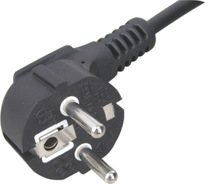 Europen computer power lead,power cord with male female plug,VDE chile power cord
