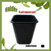 Hot 3 Gallon A Square Black Plastic garden flower pot garden