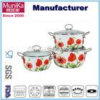 enameled and preseasoned cast iron cookware/ 6pcs as seen on tv 2014 kitchen set ceramic pot cast iron cookware
