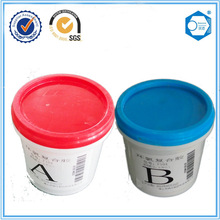 Two component PU glue for metal with fireproof