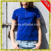 Sublimated fashion summer girls cotton polo t shirt
