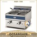 Hgf-780 double réservoir en acier inoxydable friteuse de pommes de terre pour la cuisine