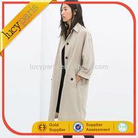 New design fashion wool coat women's long coat 2014 winter coat
