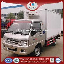 Foton 4X2 left hand drive mini refrigerator freezer truck