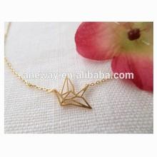 Glass Semi-Stone Gold Necklace Designs In 10 Grams