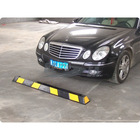 China One Black & Yellow 1.65 Meter Garage Rubber Parking Block